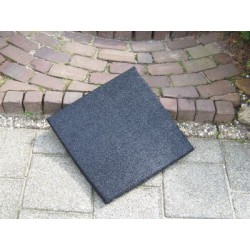 Tegel 50x50x2,5 cm zwart